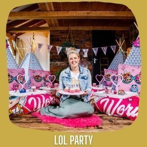Tipi kinderfeestje lol PARTY