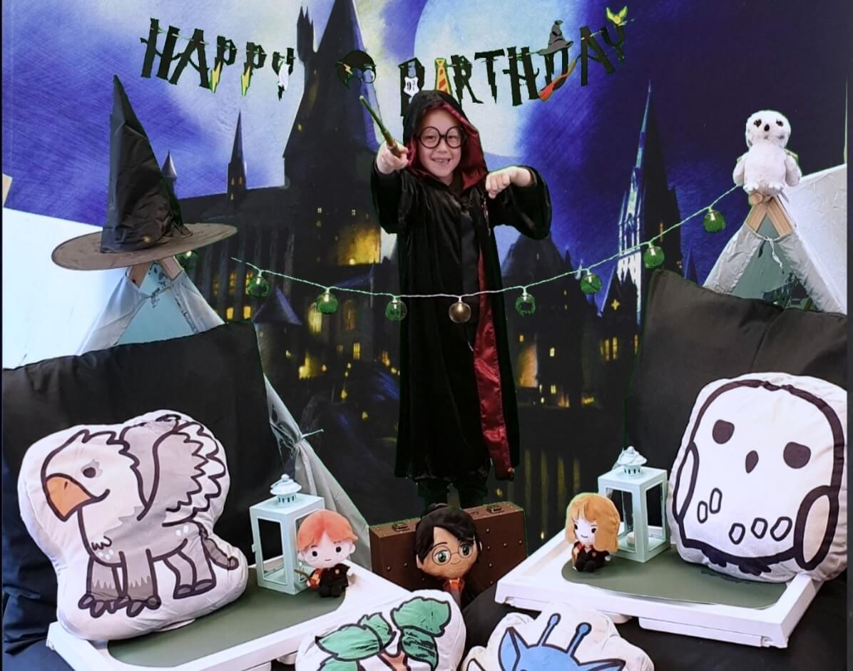 thema kinderfeestje - slaapfeestje Harry Potter