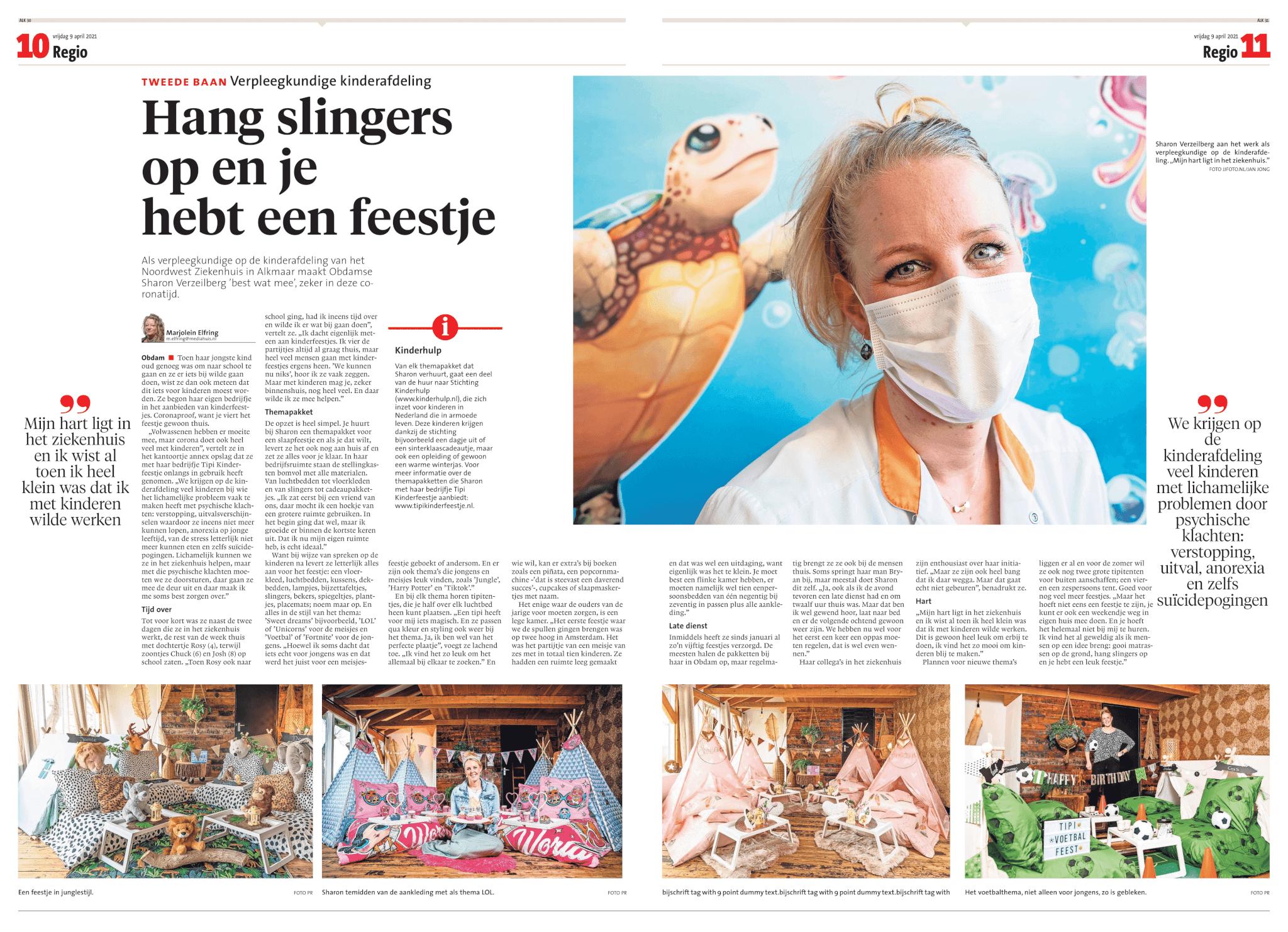 Noordhollands Dagblad Tipi Kinderfeestje